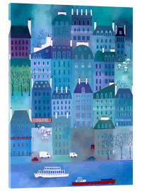 Acrylglas  Paris Blues Malerei - Nic Squirrell