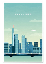 Premium-Poster Frankfurt Illustration