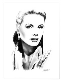 Premium-Poster  Hollywood Diva - Grace Kelly - Dirk Richter