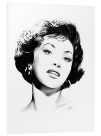 Hartschaumbild  Hollywood Diva - Gina Lollobrigida - Dirk Richter