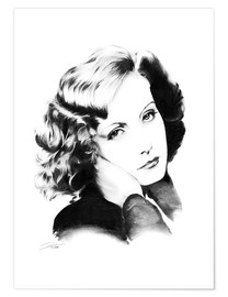 Premium-Poster Hollywood Diva - Greta Garbo