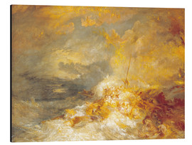 Alu-Dibond  Feuer auf See - Joseph Mallord William Turner