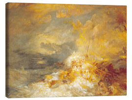 Leinwandbild  Feuer auf See - Joseph Mallord William Turner