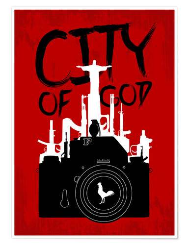 Premium-Poster City of God - Minimal Movie Fanart Alternative
