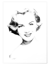 Premium-Poster Hollywood Diva - Marilyn Monroe