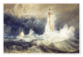 Premium-Poster  Bell Rock Leuchtturm - Joseph Mallord William Turner