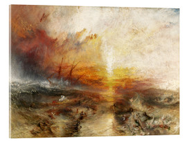 Acrylglas  Das Sklavenschiff - Joseph Mallord William Turner