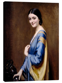 Leinwandbild  Blau, goldenes Kleid - Albert Henry Collings