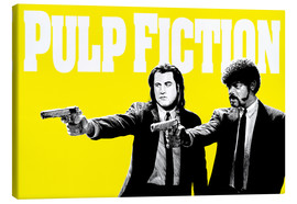 Leinwandbild  Pulp Fiction Gelb BANG - Paola Morpheus