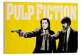 Holzbild  Pulp Fiction Gelb BANG - Paola Morpheus