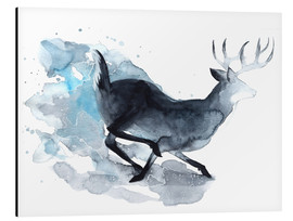 Alu-Dibond  Watercolor Deer - Déborah Maradan