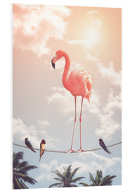 Hartschaumbild  Flamingo & friends - Jonas Loose
