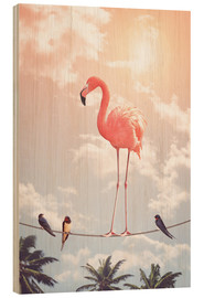Holzbild  FLAMINGO & FRIENDS - Jonas Loose