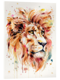 Acrylglas  All Things Majestic (Lion) - Sillier Than Sally