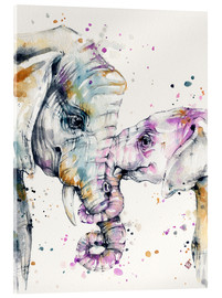 Acrylglas  That Type Of Love (elephants) - Sillier Than Sally