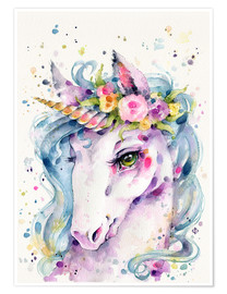 Premium-Poster Little Unicorn