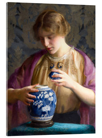 Acrylglas  Das blaue Glas - William McGregor Paxton