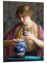 Alubild  Das blaue Glas - William McGregor Paxton