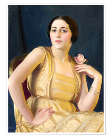 Premium-Poster  Ein wenig russisch - William McGregor Paxton