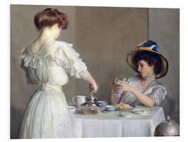 Hartschaumbild  Teeblätter - William McGregor Paxton