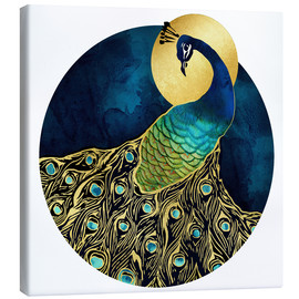 Leinwandbild  Goldener Pfau - SpaceFrog Designs