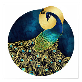 Premium-Poster  Goldener Pfau - SpaceFrog Designs