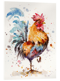 Acrylglasbild  Roosters About - Sillier Than Sally
