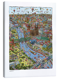 Leinwandbild  Köln - Cartoon City