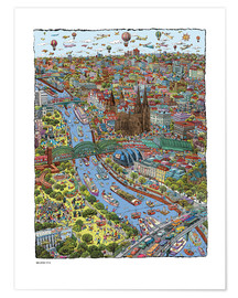 Premium-Poster  Köln - Cartoon City