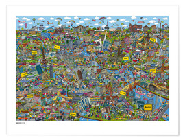 Premium-Poster  Berlin - Cartoon City