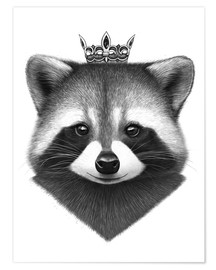 Premium-Poster Raccoon queen