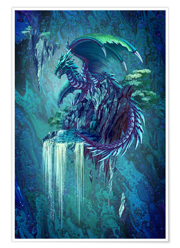 Premium-Poster The Dragon's Waterfall
