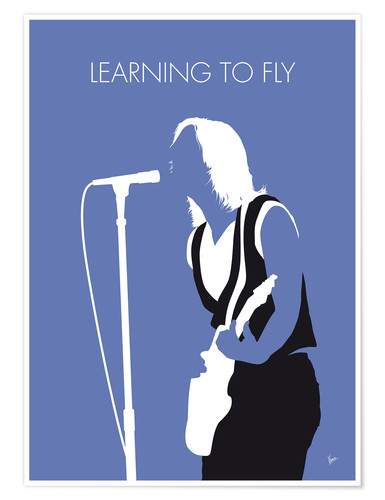 Premium-Poster Tom Petty - Learning To Fly