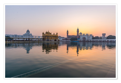 Premium-Poster The Golden Temple at sunrise, Amritsar, India