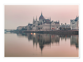 Premium-Poster  Bunte Sonnenaufgänge in Budapest - Mike Clegg Photography
