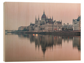 Holzbild  Bunte Sonnenaufgänge in Budapest - Mike Clegg Photography