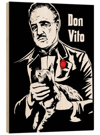 Holzbild  Don Vito Corleone the godfather art - 2ToastDesign