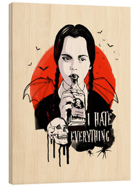 Holzbild  Wednesday addams family art - 2ToastDesign