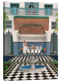 Leinwandbild  Ein Riad in Marrakesch - Larry Smart
