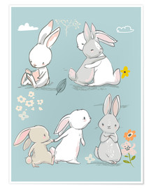 Premium-Poster  Hasenfreundschaft - Kidz Collection