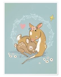 Premium-Poster  Rehlein Mutter und Kind - Kidz Collection