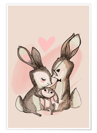 Premium-Poster  Familie Hase - Kidz Collection
