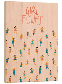 Holzbild  Girl Power