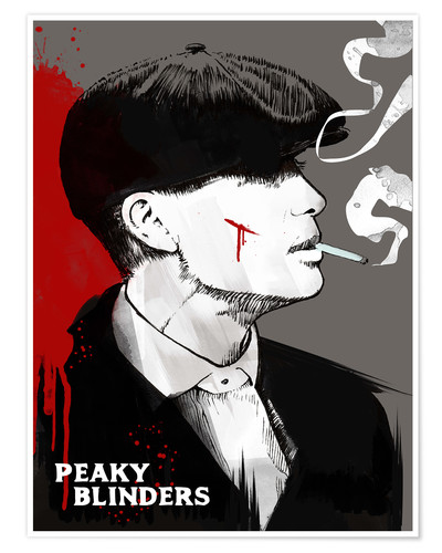 Poster Peaky blinders tommy shelby art