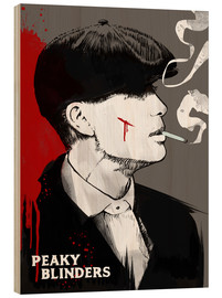 Holzbild  Peaky blinders tommy shelby art - 2ToastDesign