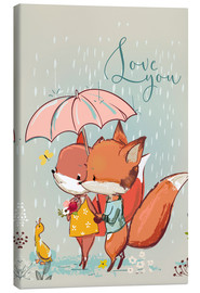 Leinwandbild  Fuchs Liebe - Kidz Collection