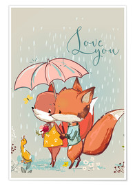 Premium-Poster  Fuchs Liebe - Kidz Collection