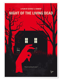 Premium-Poster No935 My Night of the Living Dead minimal movie poster