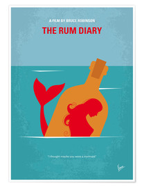 Premium-Poster No925 My The Rum Diary minimal movie poster