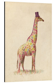 Alu-Dibond  Modische Giraffe - Terry Fan